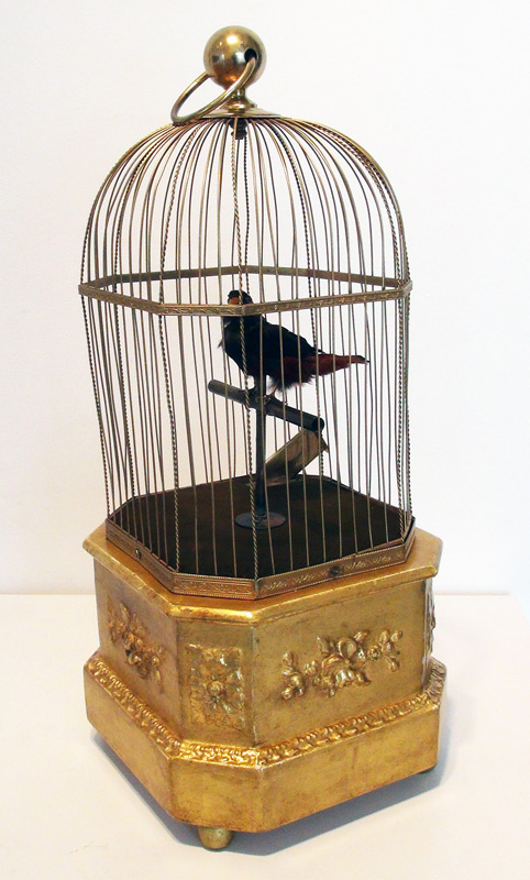 Coin Operated Single Singing bird, French c. 1880