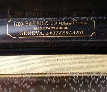 Antique 12 Air Music Box by George Baker, c. 1880