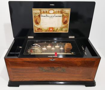 Antique Orchestral Music Box by Paillard, c. 1890