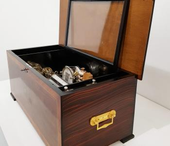 Antique Interchangeable Orchestral Music Box by Cuendet, c. 1890