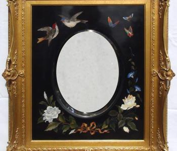 Antique Pietra Dura Plaque with Mirror