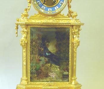 Rare French Clock with Double Singing Bird Automata